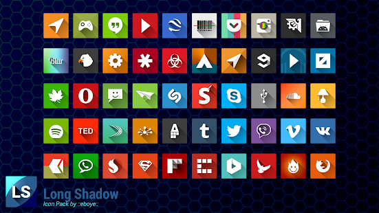 Long Shadow Icon Pack Screenshot 8
