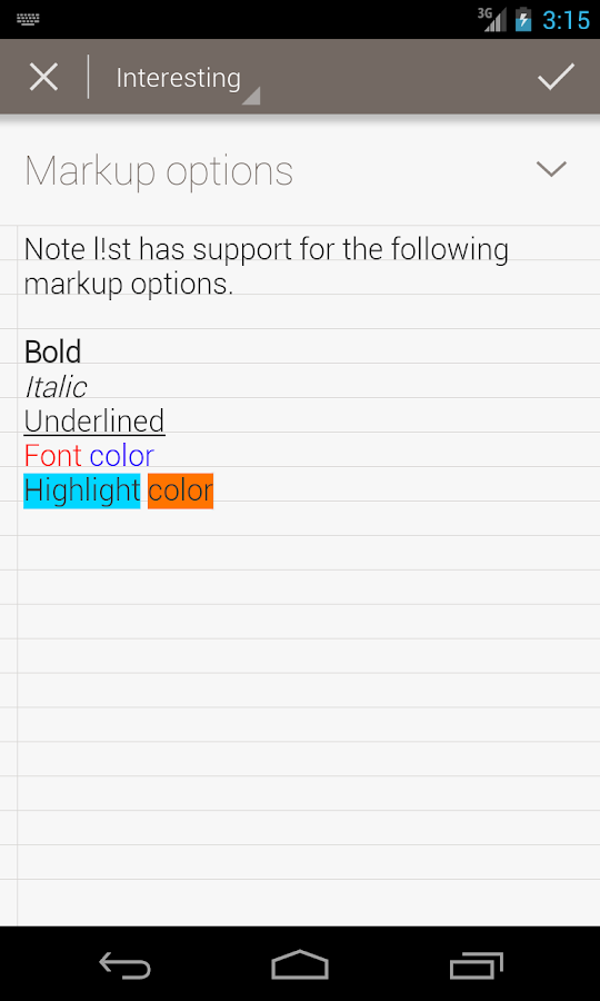 Note l!st notepad: Notes app - screenshot