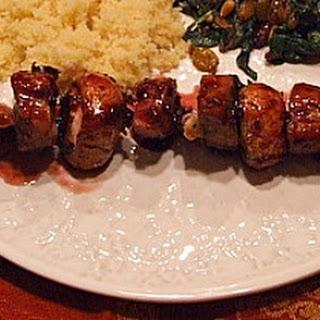 Cherry- Glazed Pork with Couscous.