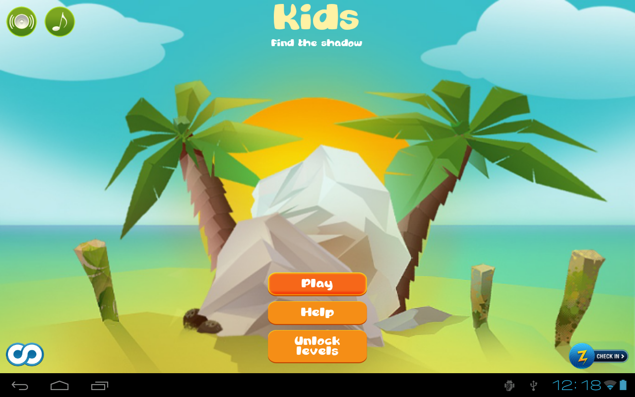 Kids Find the shadow lite - screenshot