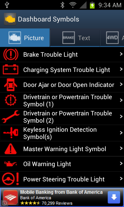 Vehicle Dashboard Symbols- screenshot