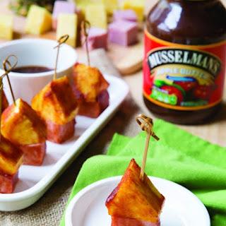 BBQ Sauce-Glazed Pineapple Ham Picks