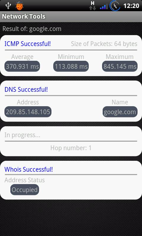 Network Tools - screenshot
