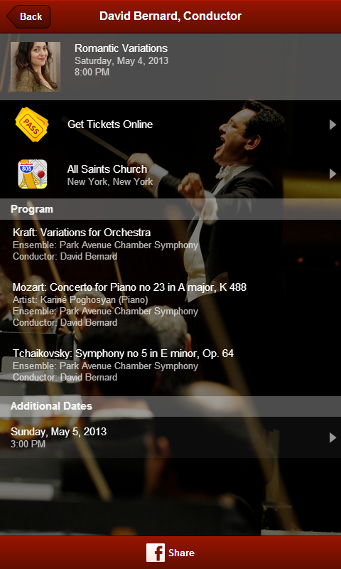 David Bernard, Conductor - screenshot