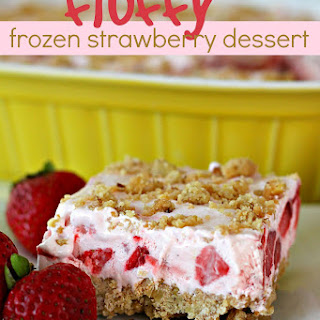 Fluffy Frozen Strawberry Dessert.