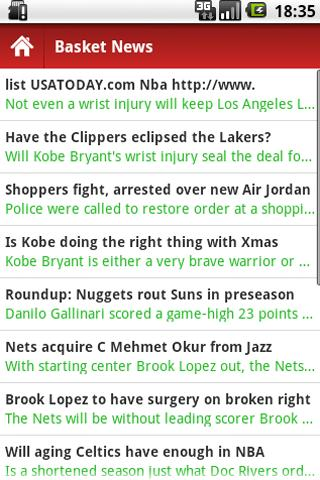 Basketball News - screenshot