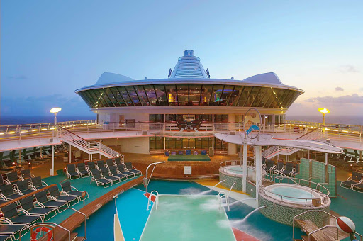 Get refreshed with a dip in one of the three pools aboard Jewel of the Seas.