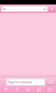 Pink GO SMS Theme- screenshot thumbnail