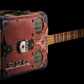 suitcase by Dietmar Kuhn - Artistic Objects Musical Instruments ( abstract, old, suitcase, guitar, homemade,  )