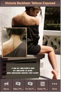 Victoria Beckham Tattoos - screenshot thumbnail