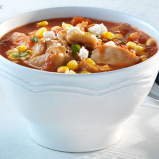 Mexican Chicken & Cheesy Tortellini Soup