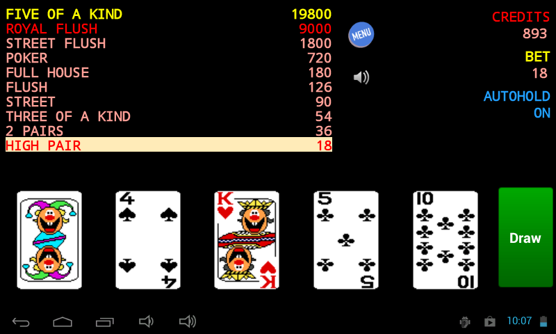 Jolly Card Poker - screenshot