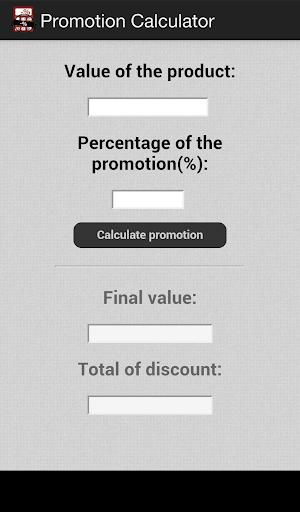 Promotion Calculator
