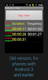Contraction Timer - screenshot thumbnail