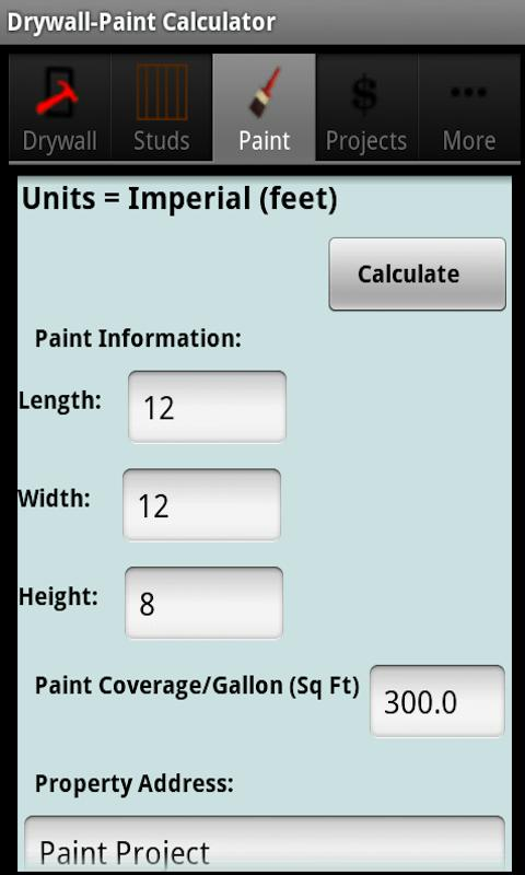 Drywall Calculators - screenshot