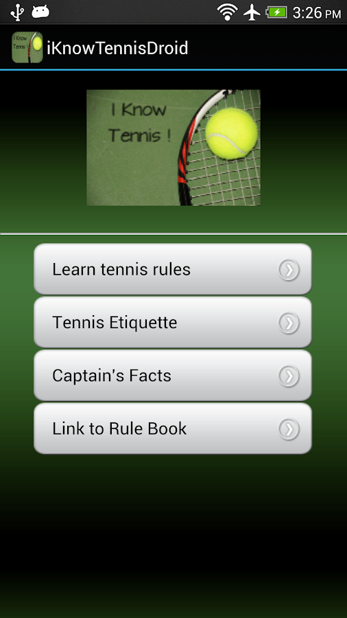 iKnowTennis!- screenshot
