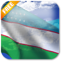 3D Uzbekistan Flag icon