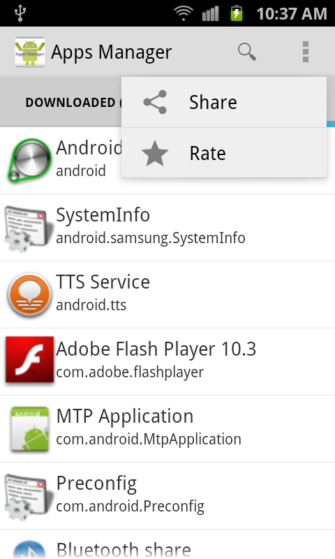 Apps Manager Apps Information - screenshot