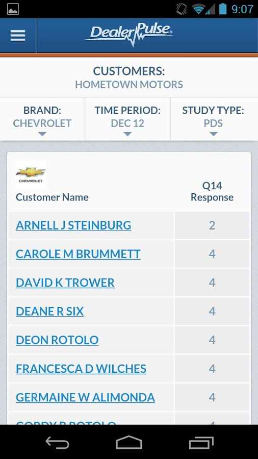DealerPulse Mobile - screenshot