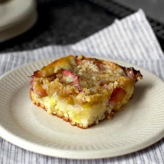 Rhubarb Snacking Cake.
