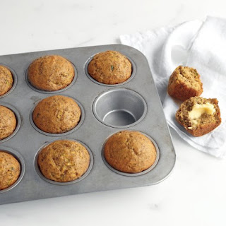 Zucchini, Banana, and Flaxseed Muffins.