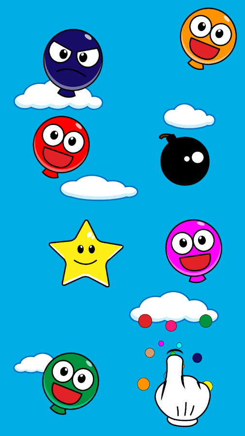 Pop Smiley Balloons- screenshot