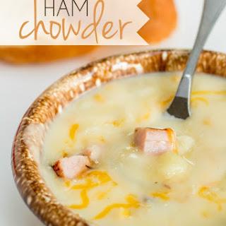 Ham Chowder with Potato and Corn