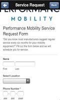 Screenshot of Performance Mobility