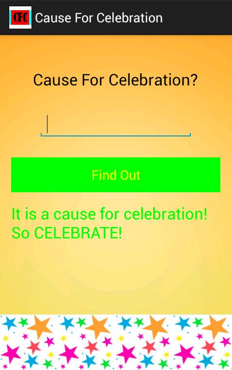 Cause For Celebration - screenshot