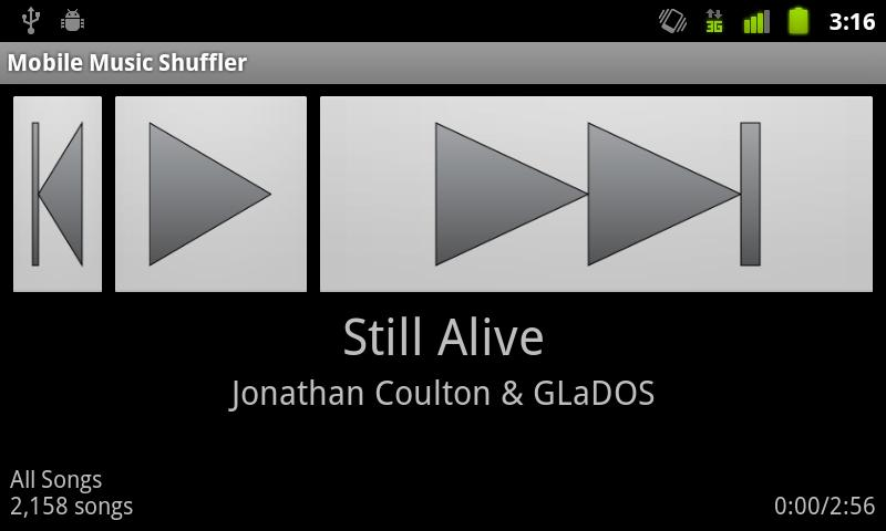 Mobile Music Shuffler- screenshot