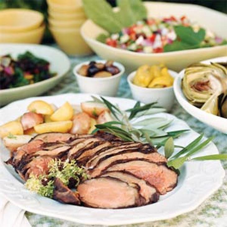 Greek Lamb with Herbs and Garlic Recipe