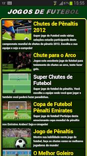 Jogos de futebol - screenshot thumbnail