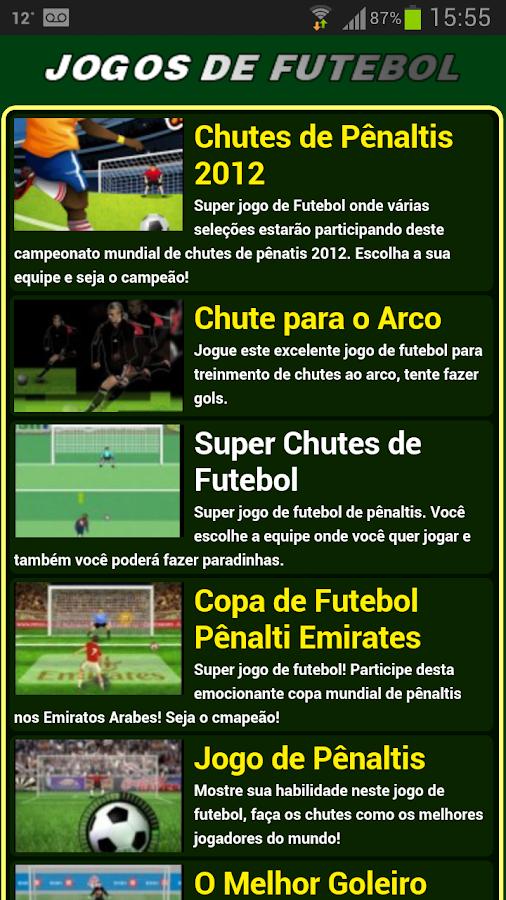 Jogos de futebol - screenshot