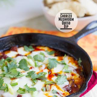 Chorizo Mushroom Queso Dip.