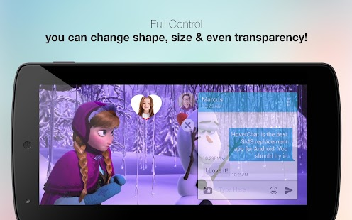 HoverChat Free (Ninja SMS) Screenshot 3