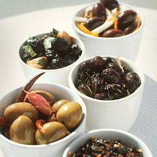 Cerignola Olives with Hot Pepper Garlic Oil