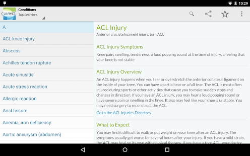 WebMD for Android- screenshot thumbnail