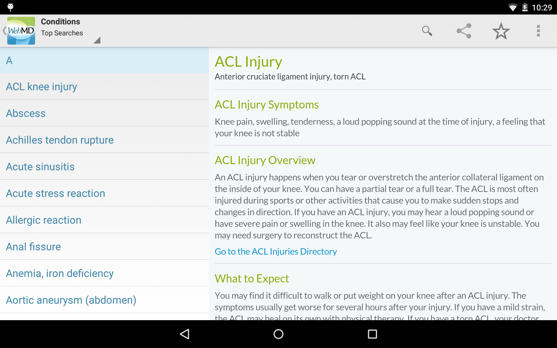 WebMD for Android screenshot #12