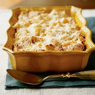 Butternut Squash and Parmesan Bread Pudding.