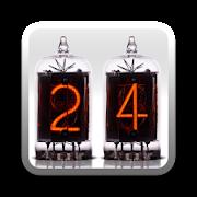 Nixie Time & Battery Widget