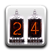 Nixie Time & Battery Widget