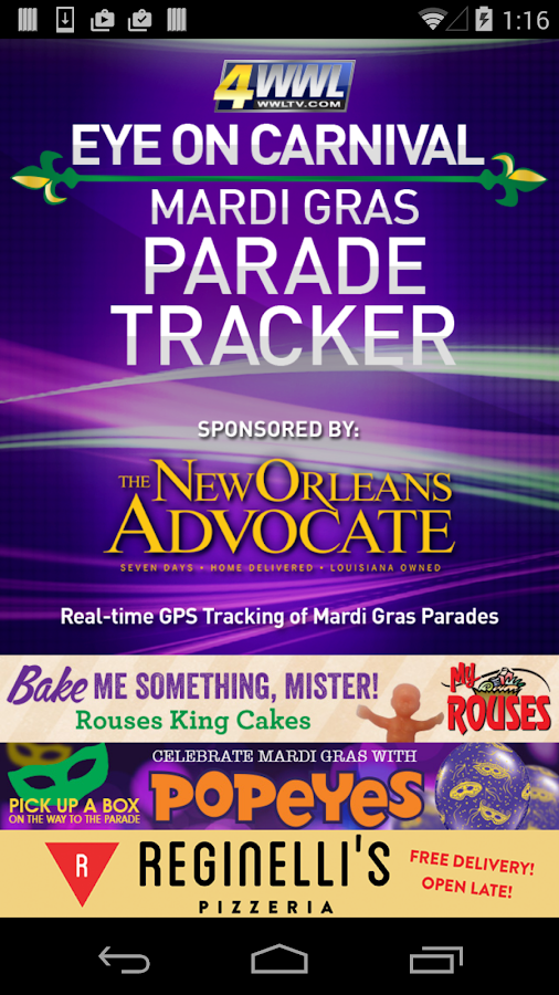 WWL Mardi Gras Parade Tracker - screenshot