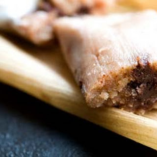Chocolate Tamales With Pecans And Dried Cherries.