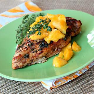 Balsamic- Mango Marinated Grilled Chicken