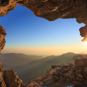 View from Corchia by Ricky Papex - Landscapes Mountains & Hills ( canon, natural arch, tuscany, arch, sunset, rock, versilia, rocks, italy, Earth, Light, Landscapes, Views, #GARYFONGDRAMATICLIGHT, #WTFBOBDAVIS )