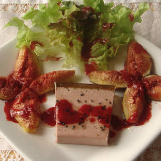 Foie Gras, Roasted Figs with Raspberry Vinaigrette.