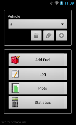 Fill Up New - Fuel Log