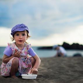 At the See by Lazarina Karaivanova - Babies & Children Toddlers ( see girl )