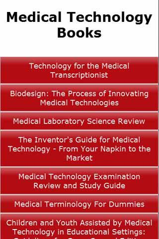Medical Technology Books