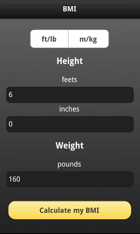 BMI Calculator Free- screenshot
